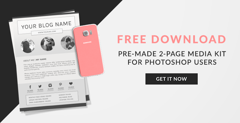 How and why to create a media kit for your blog free template how and why to create a media kit for your blog free template pink hexagon pronofoot35fo Images