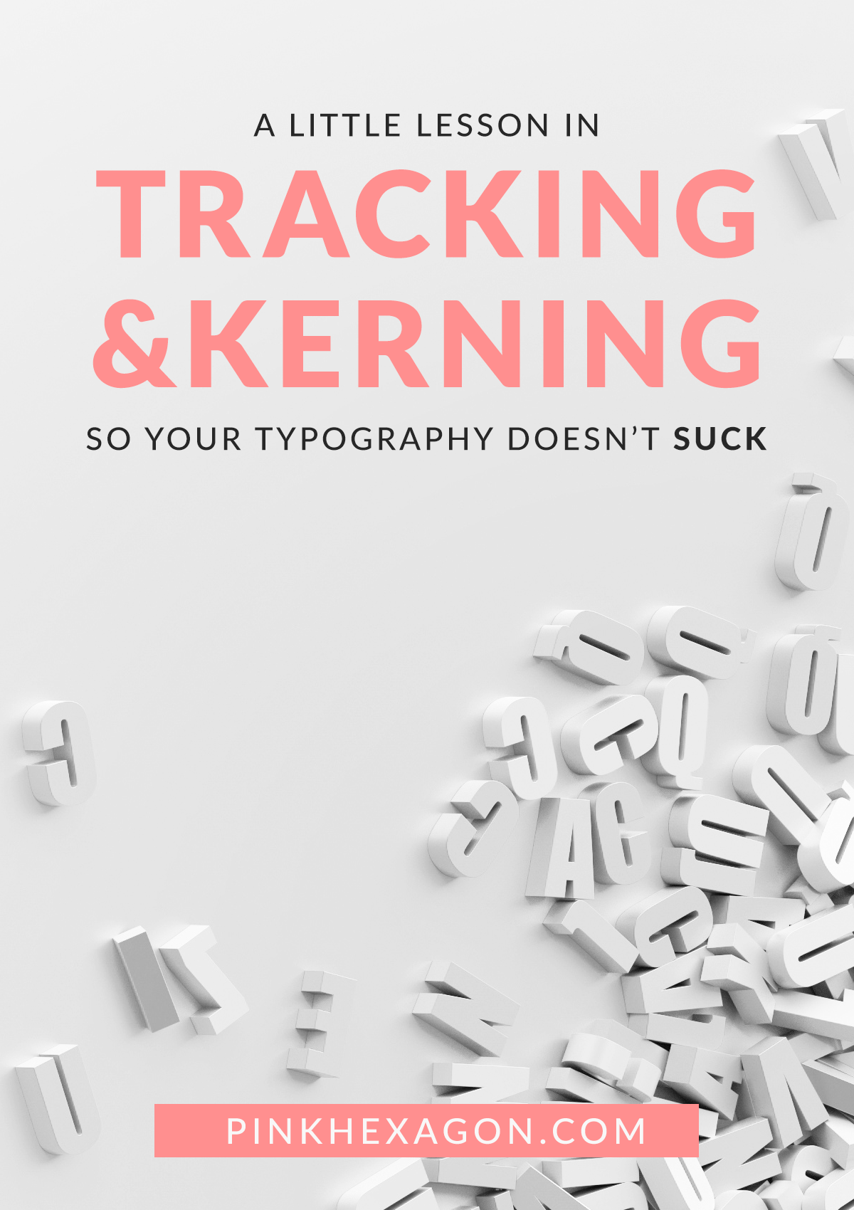 A lesson about tracking and kerning