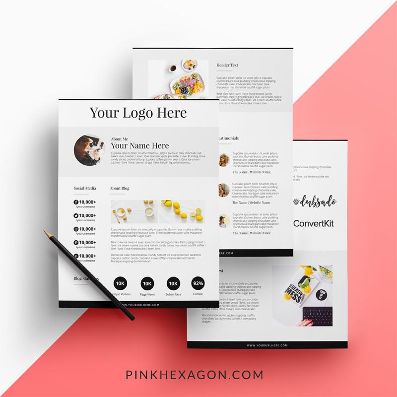 Fresh Blogger Media Kit 3 Page