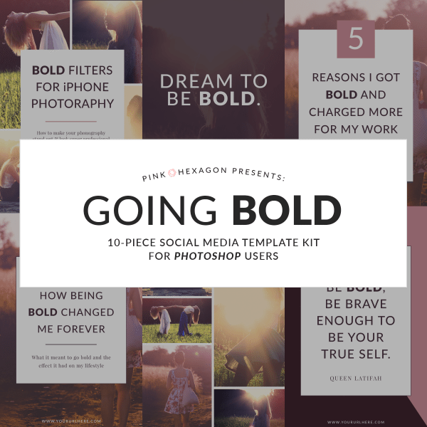 Going Bold Social Media Templates