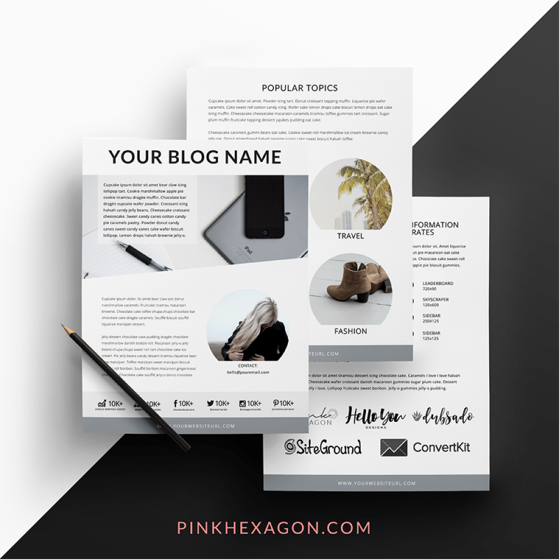 Hazy Gray Lifestyle Blogger Media Kit